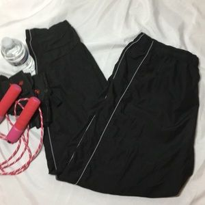 Footlocker men's black nylon sport pants size L